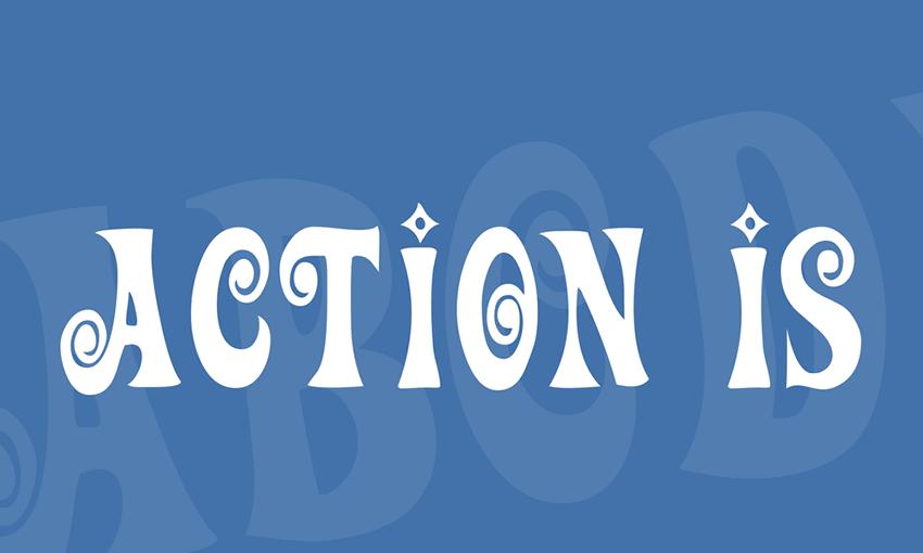 Action IsFree Retro Font Family