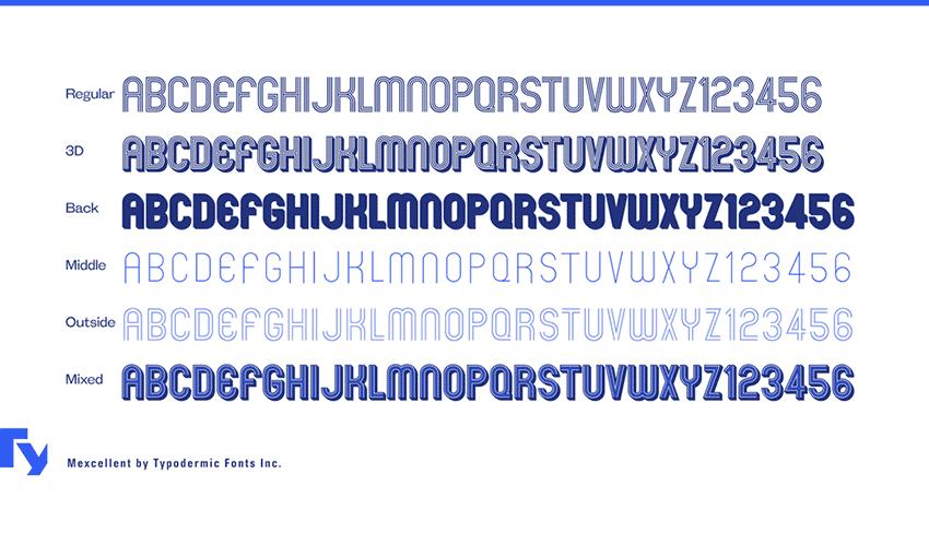 Mexcellent Font FamilyFree Retro Font Family