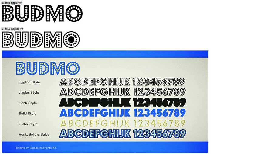 BudmoFree Retro Font Family
