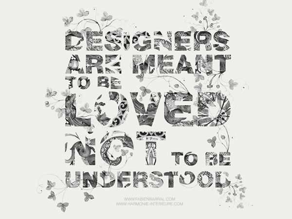 Designers are Meant to be Loved Typography Wallpaper