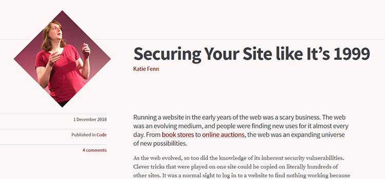 Securing Your Site like It's 1999