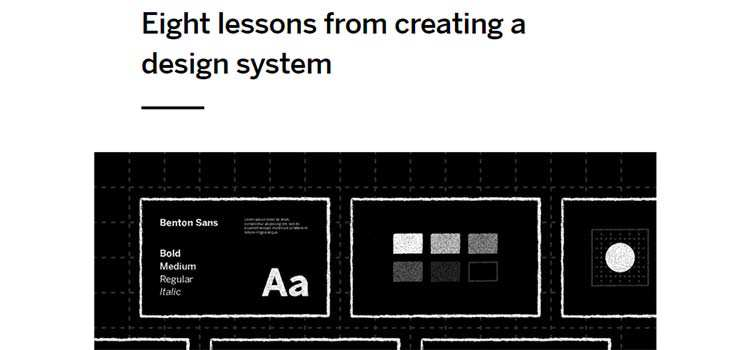 Eight lessons from creating a design system