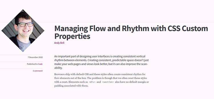 Managing Flow and Rhythm with CSS Custom Properties