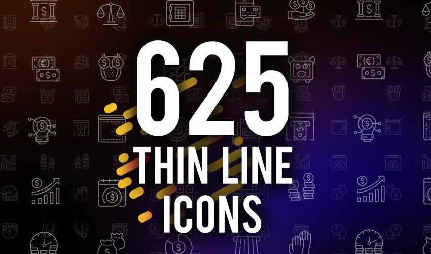 Thin Line ae adobe after effects template motion design project files video movie icon animation type