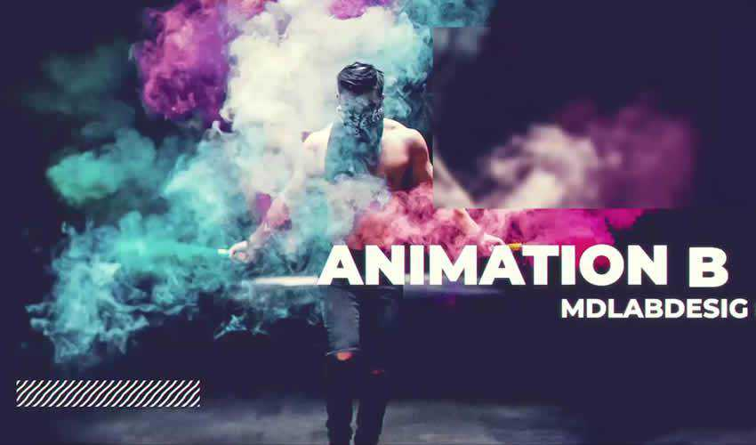 slideshow gallery animation ae adobe after effects template motion design project files video movie