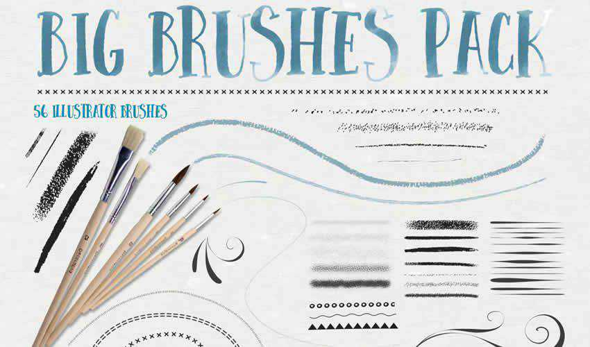 big adobe illustrator brush brushes abr pack set free