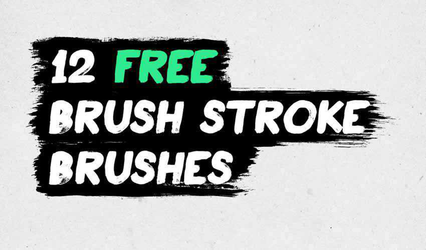 Brush Stroke adobe illustrator brush brushes abr pack set free