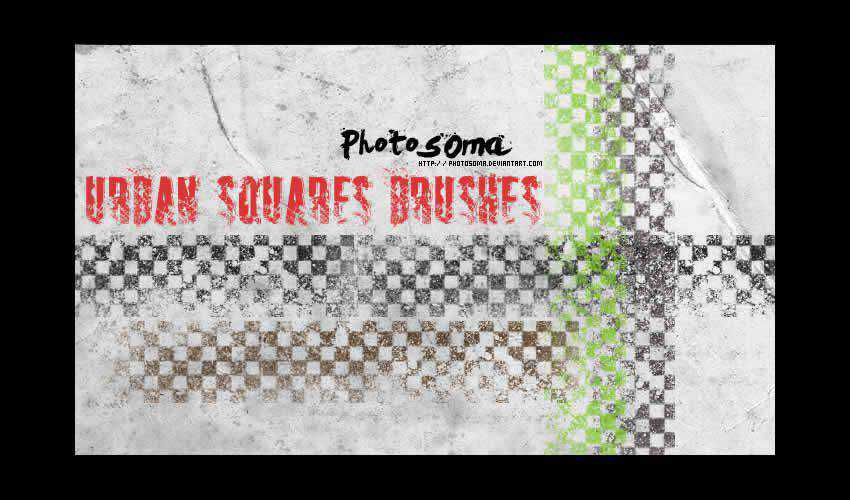 Urban Squares adobe illustrator brush brushes abr pack set free