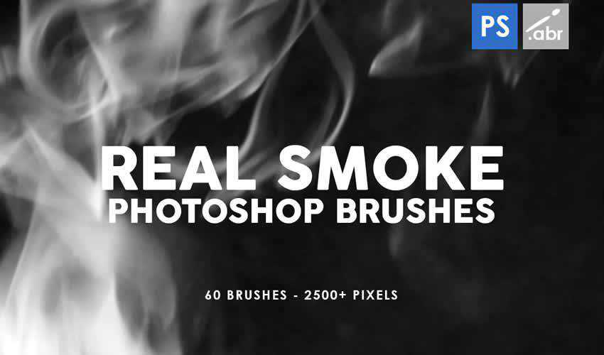 Real Smoke stamp adobe photoshop ps brush brushes abr pack set