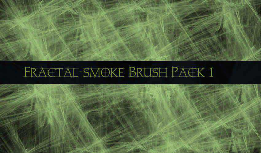Fractal Smoke adobe photoshop ps brush brushes abr pack set free