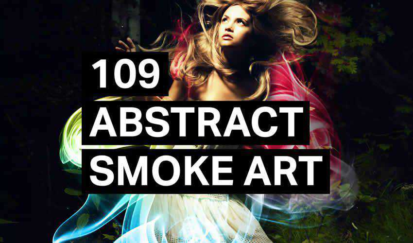 Abstract Smoke adobe photoshop ps brush brushes abr pack set