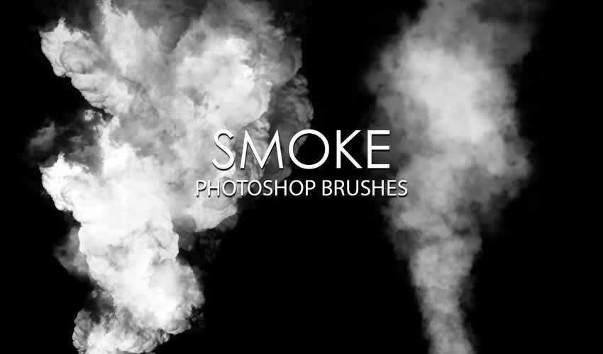 Smoke adobe photoshop ps brush brushes abr pack set free