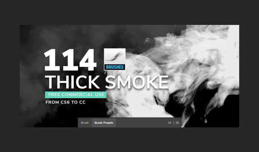 Thick Photoshop Smoke adobe ps brush brushes abr pack set free