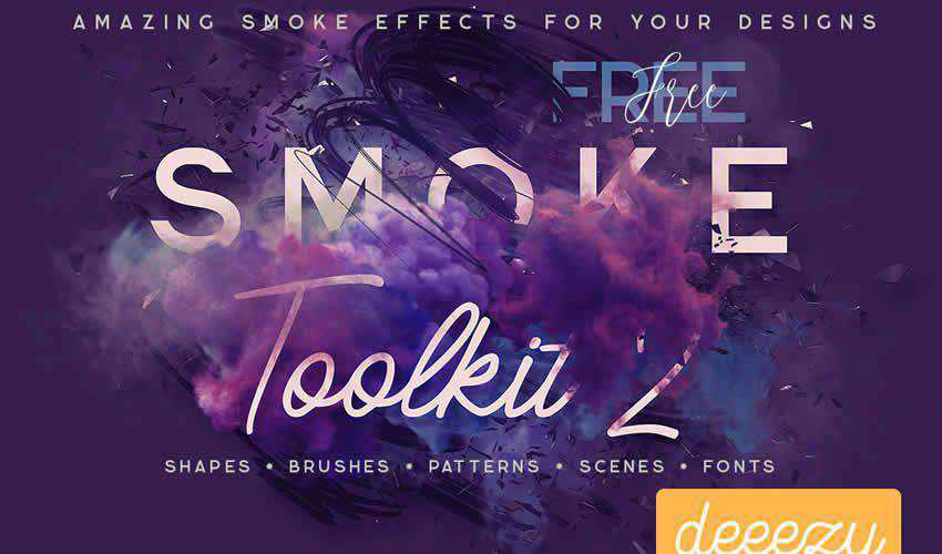Free Smoke Toolkit adobe photoshop ps brush brushes abr pack set