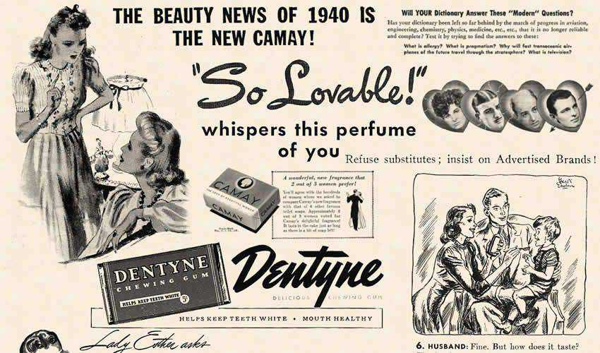 1940 Cosmopolitan vintage antique adobe photoshop ps brush brushes abr pack set free