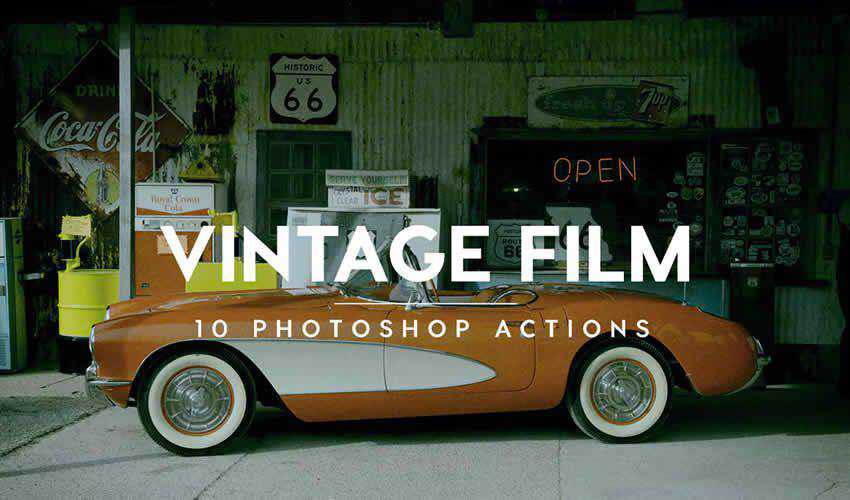 film action vintage antique adobe photoshop pack set