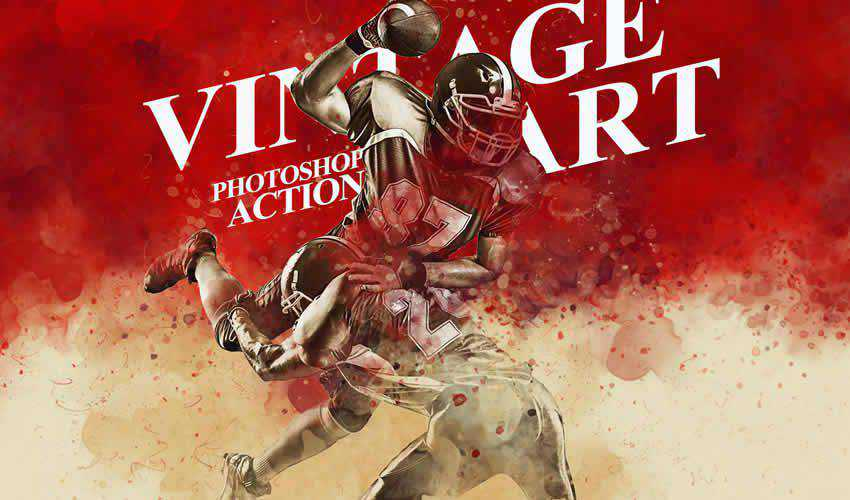art action vintage antique adobe photoshop ps pack set