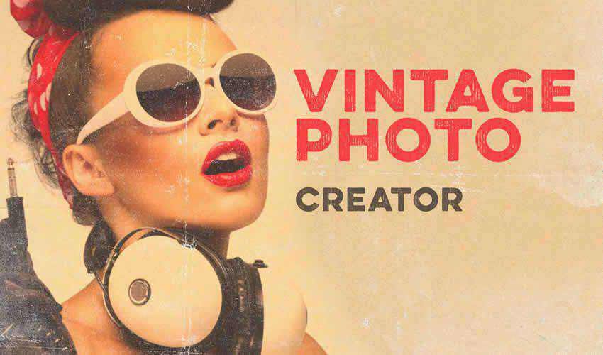 Photo Creator vintage antique adobe photoshop pack set