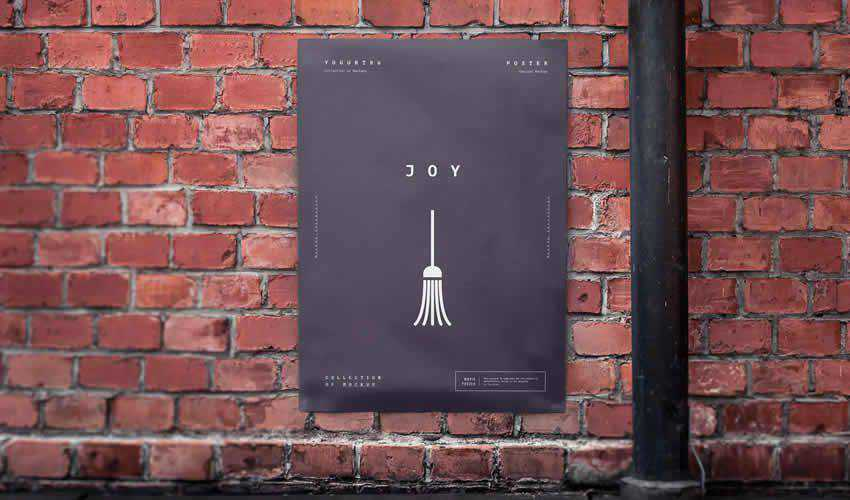 urban poster mockup template editable flyer photoshop PSD