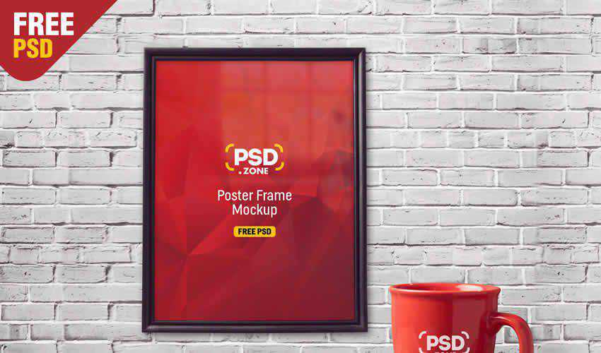 mug psd photoshop frame poster mockup template editable flyer