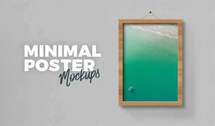 minimal psd poster mockup template editable flyer