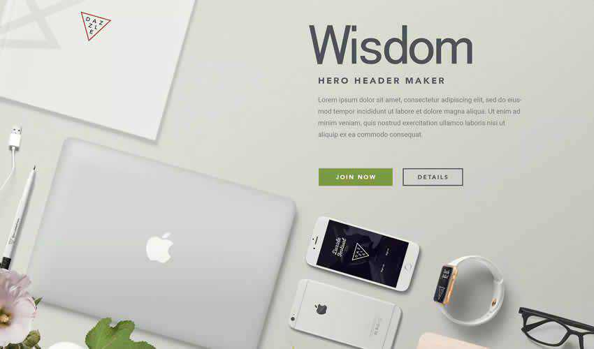 Hero Header Apple Devices website responsive mockup template web design edit ps photoshop