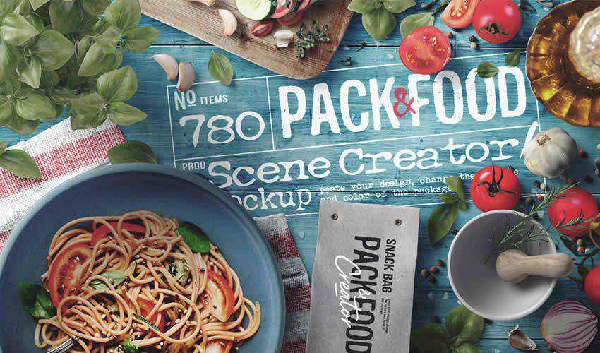 Restaurant free adobe photoshop scene creator mockup template psd