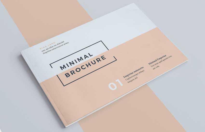 Minimal brochure business template format
