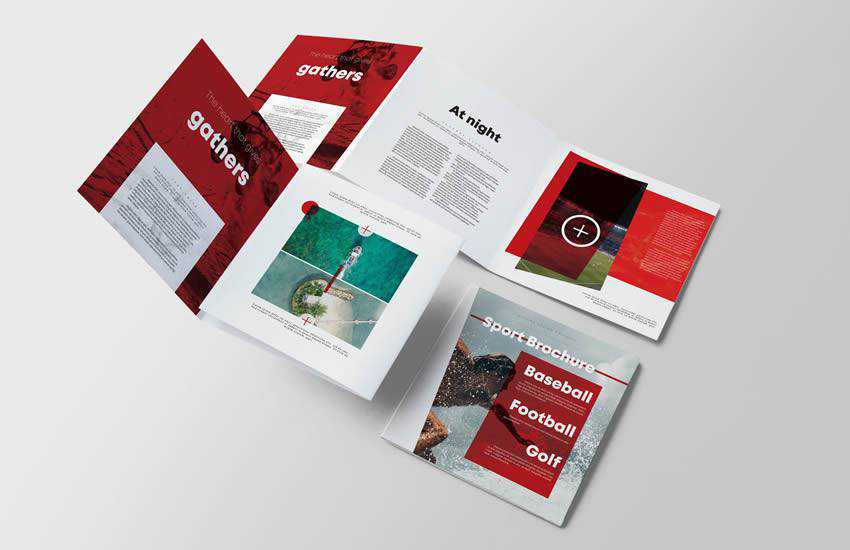 Sport Square brochure business template format