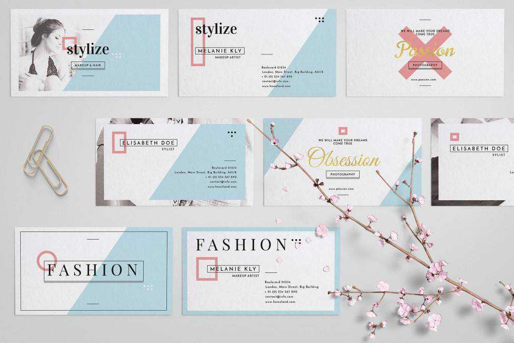 Stylize Business Card Collection template format Adobe Photoshop