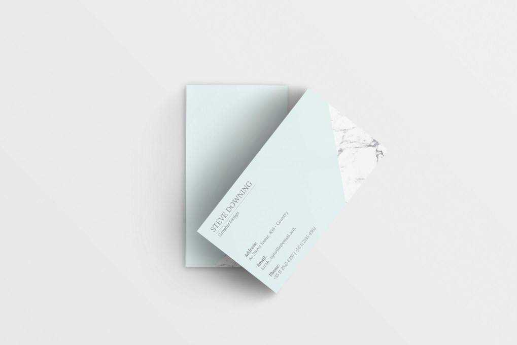 Minimalist business card template format Adobe Photoshop