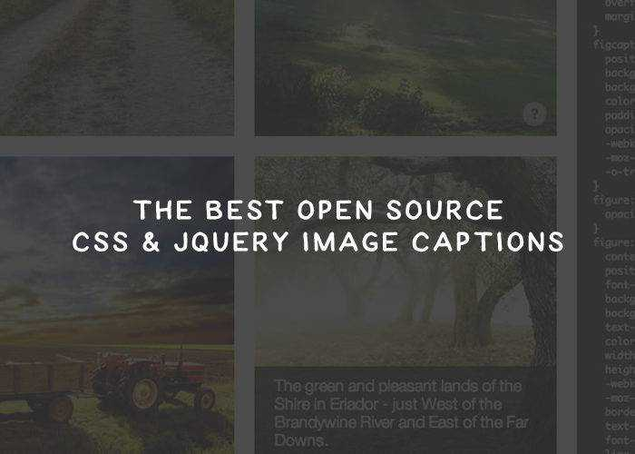 The Best Open Source CSS and jQuery Image Captions