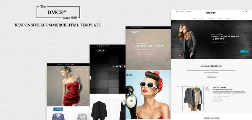 dmcs ecommerce shop website retail web design inspiration