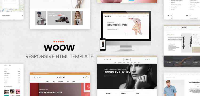 woow ecommerce shop website retail web design inspiration