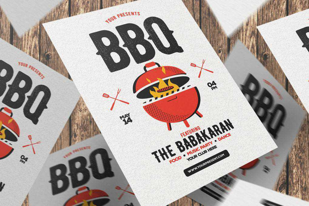 BBQ Party  flyer template format