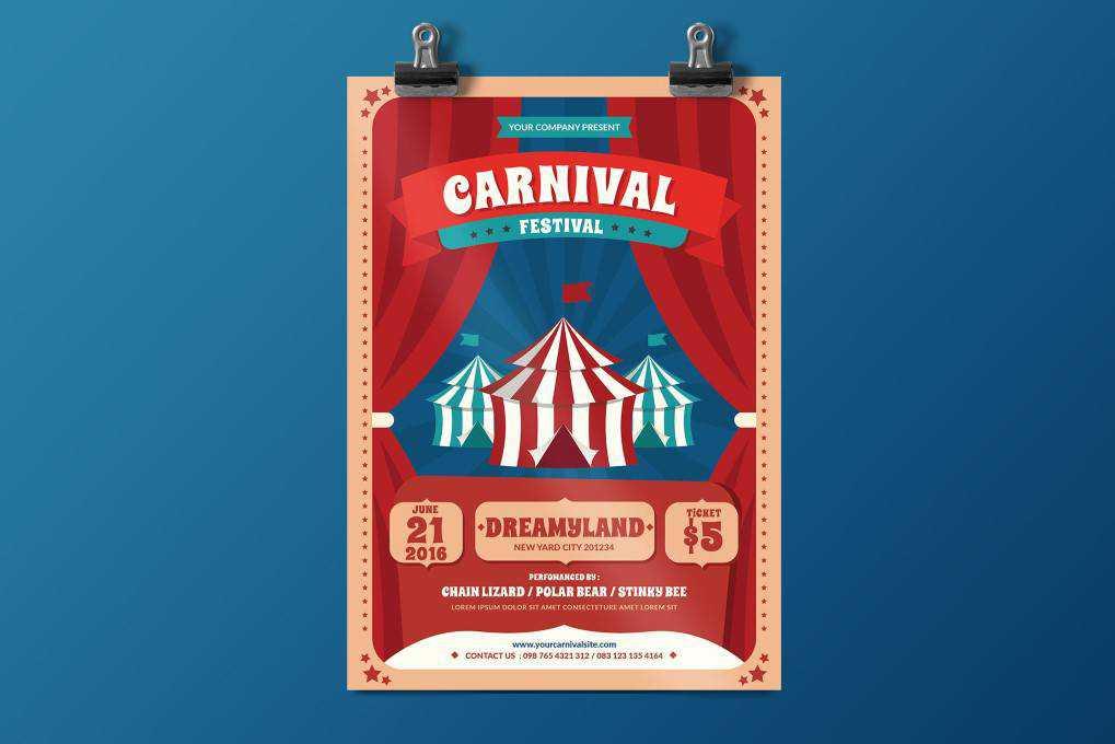 Carnival Festival flyer template format