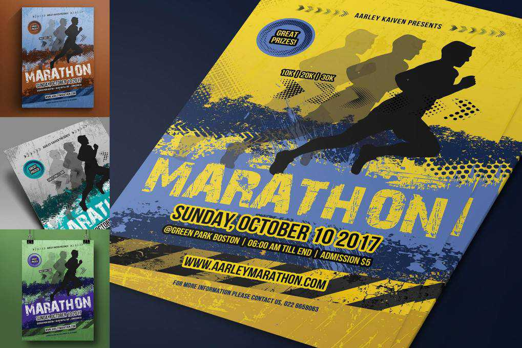 Marathon Event flyer template format
