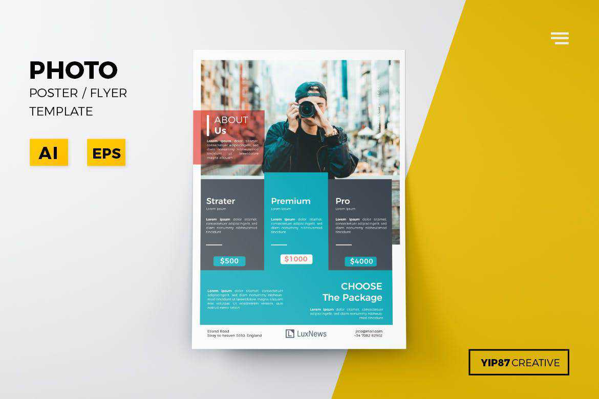 photo flyer template format
