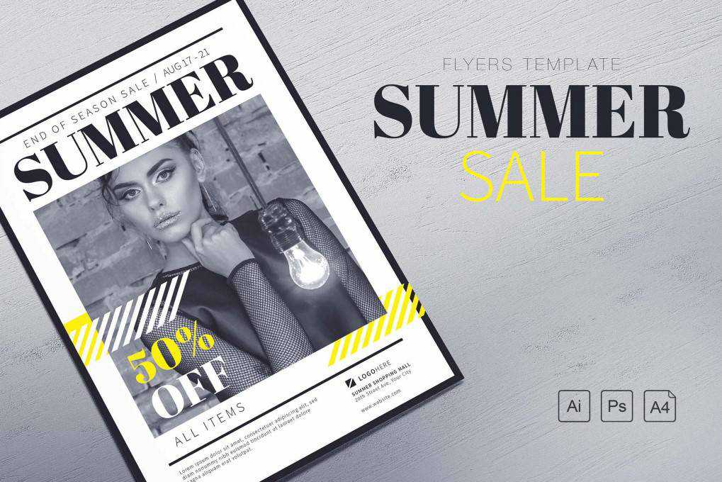Summer Sale Flyer flyer template format