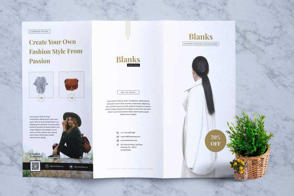 Blanks Fashion flyer template format