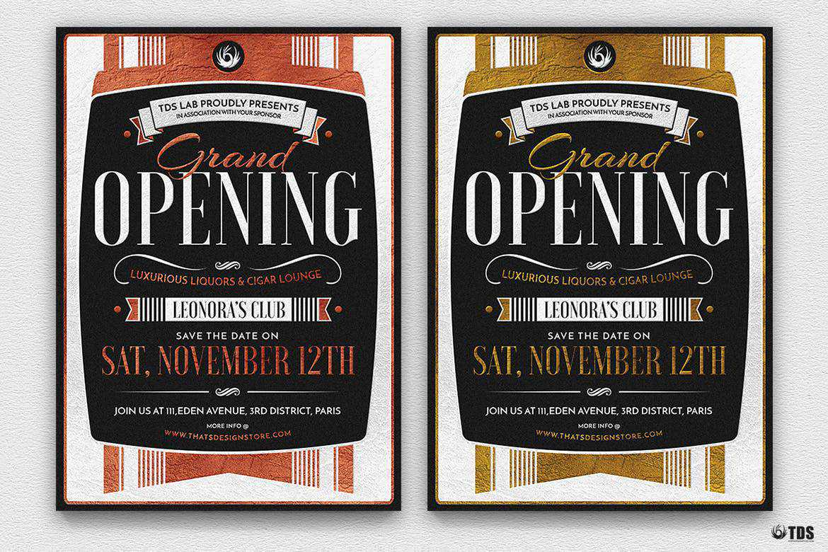 Grand Opening flyer template format
