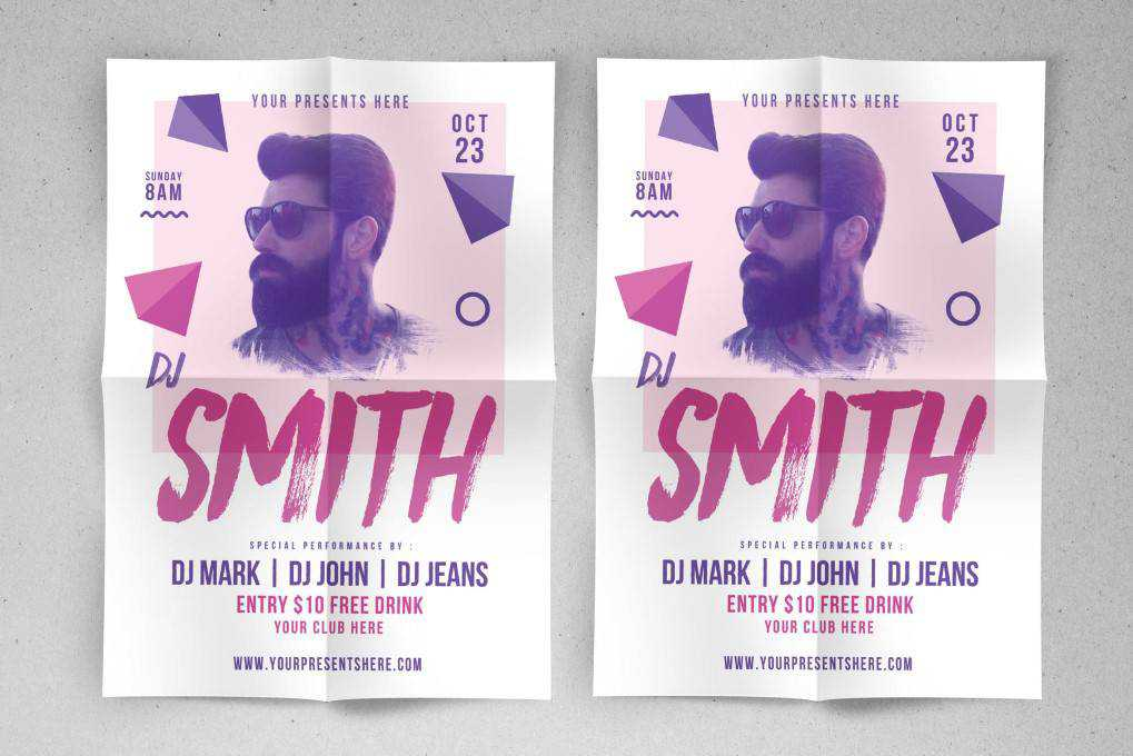 dj music party flyer template format