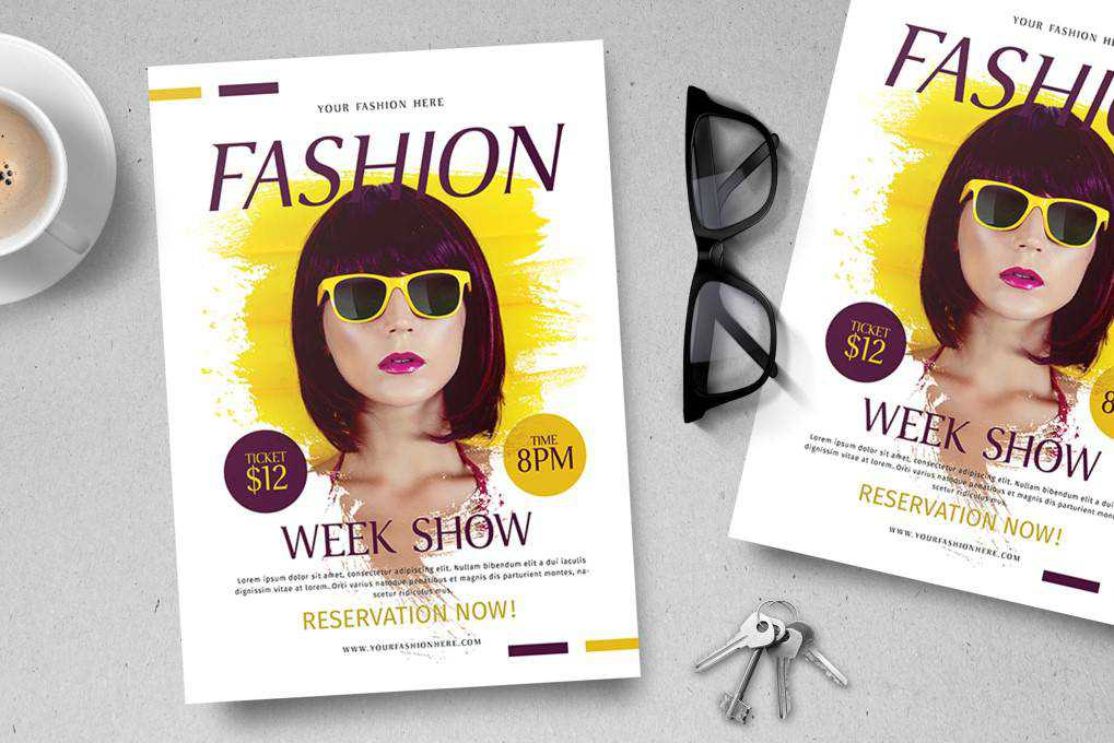 fashion flyer template format