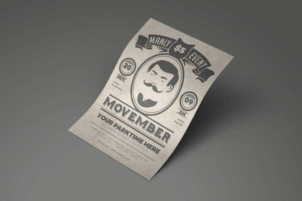 Movember Festival flyer template format