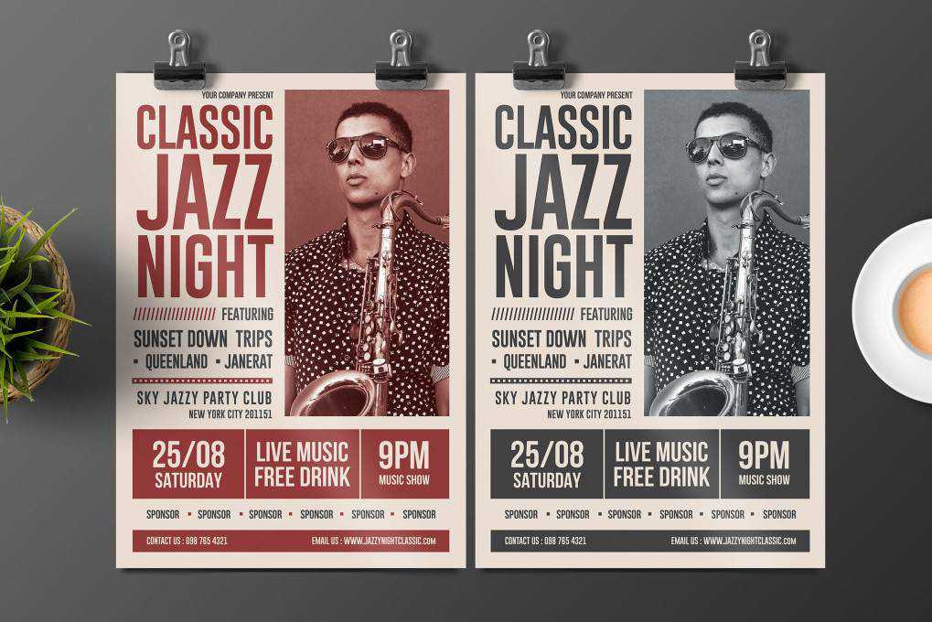 jazz flyer template format