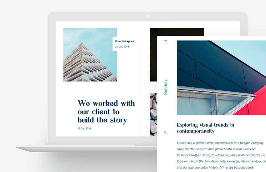 Subtlety Light Minimal web design layout adobe photoshop template free psd format