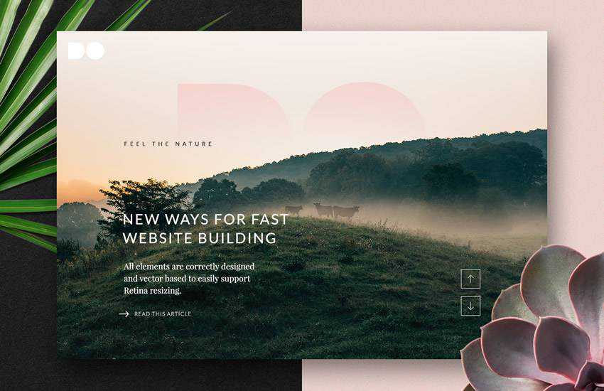 The Free DO blog magazine web design layout adobe photoshop template free psd format