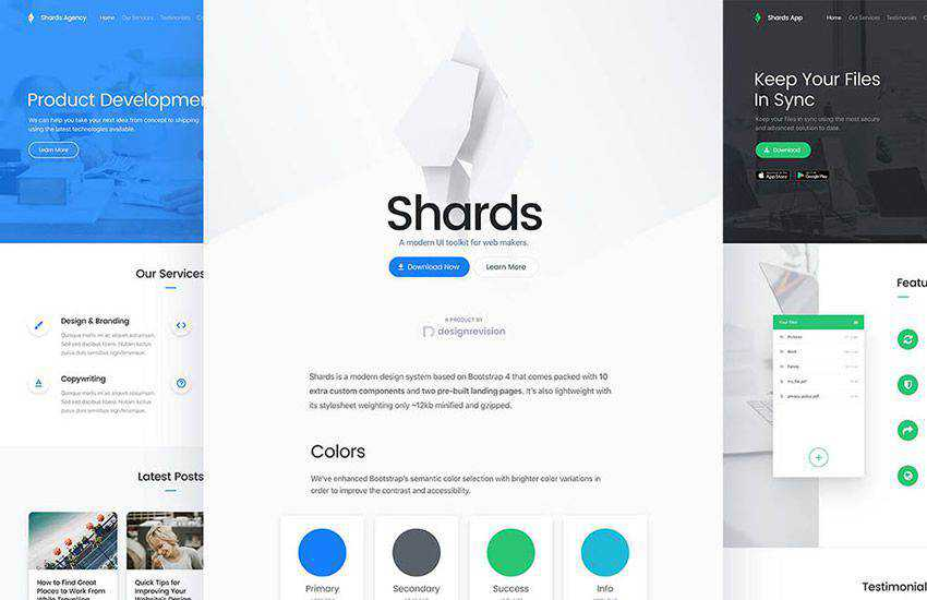 Shards admin dashboard ux High-Quality boostrap 4 four template ui kit free