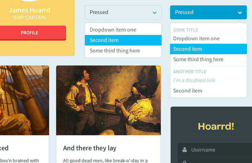 Drunken Parrot Lite boostrap 4 four template ui kit free