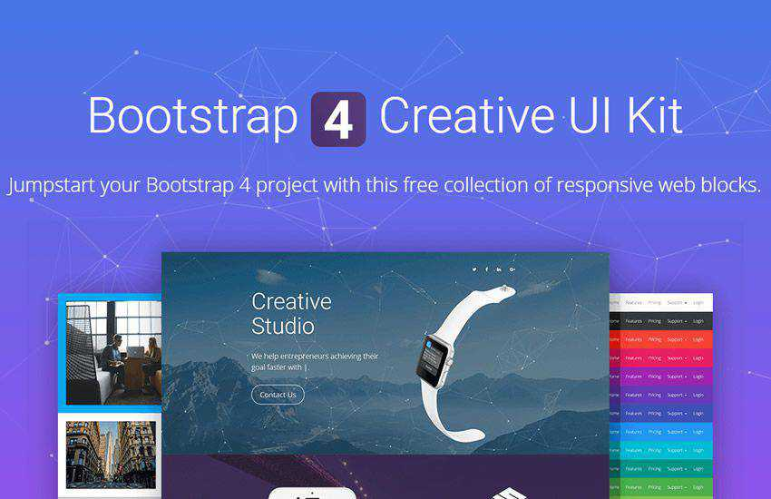 NowSquare boostrap 4 four template ui kit free